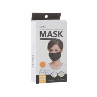 black mask mouth disposable
