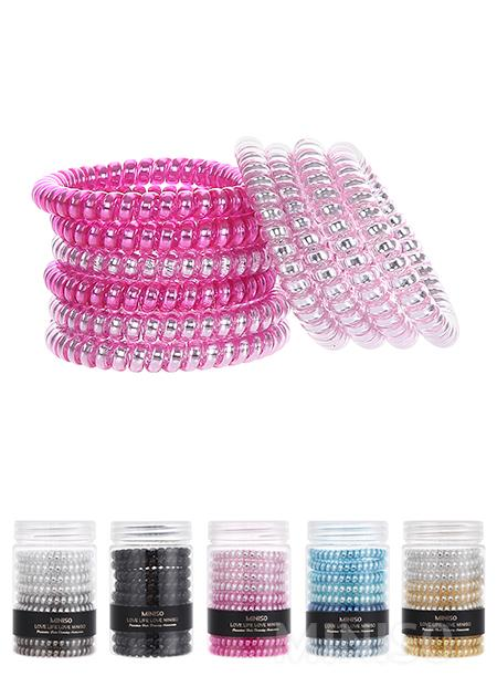 Small Spiral Hair Tie 10 Count 21acfa21820