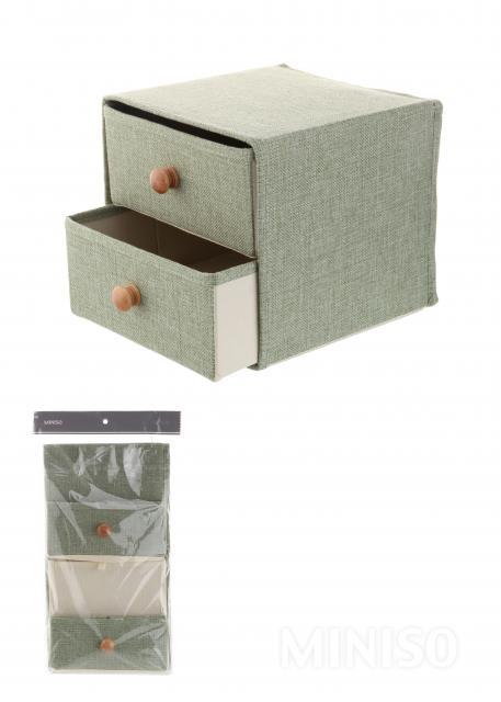 Etonnant 2 Drawer Storage Box(Green)