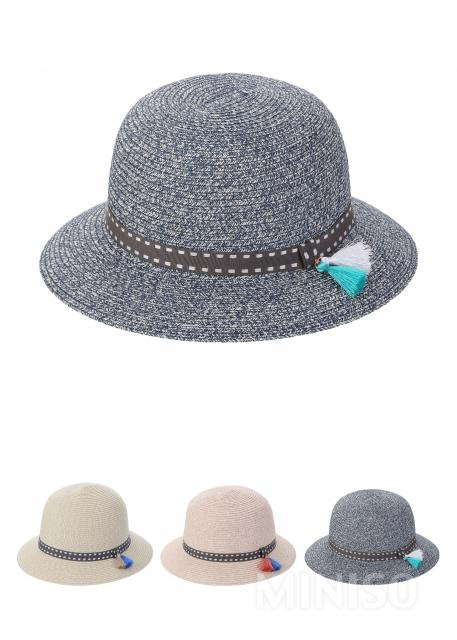 91257882836 Straw Hat with Tassels