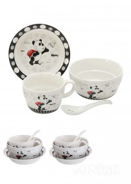 Tableware 4-piece Set-Panda  sc 1 st  MINISO Australia & Tableware 4-piece Set-Panda - MINISO Australia