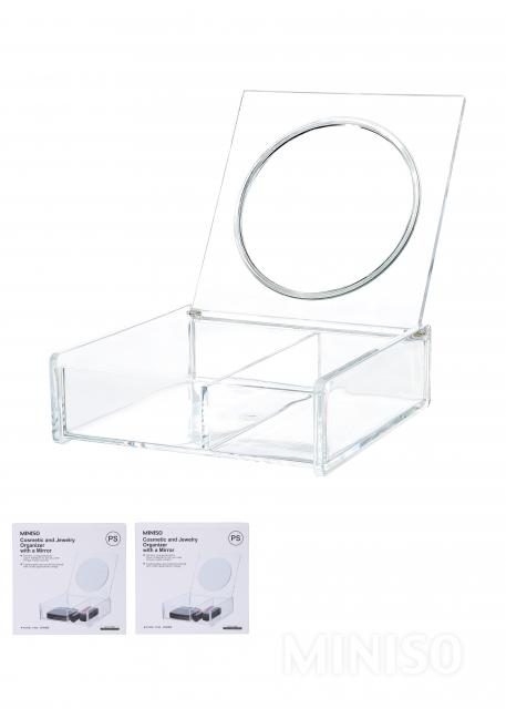 Cosmetic and Jewelry Organizer with a Mirror MINISO Australia