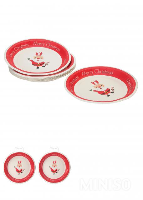L Small Round Paper Plate 10 Pack(Red)  sc 1 st  Miniso & L Small Round Paper Plate 10 Pack(Red) - MINISO Australia
