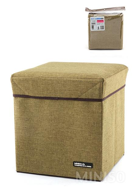 Simple Linen Storage Box (Dark Green)