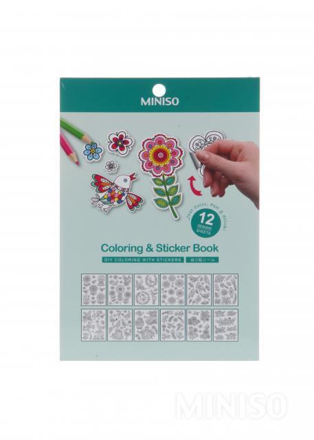 Birds Blooms Coloring Sticker Book CPA31004V
