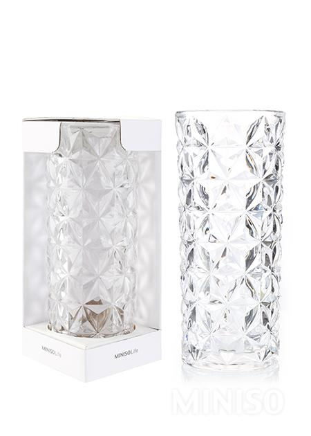 Diamond Pattern Vase Transparent Miniso Australia