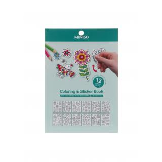 Birds Blooms Coloring Sticker Book CPA31004V